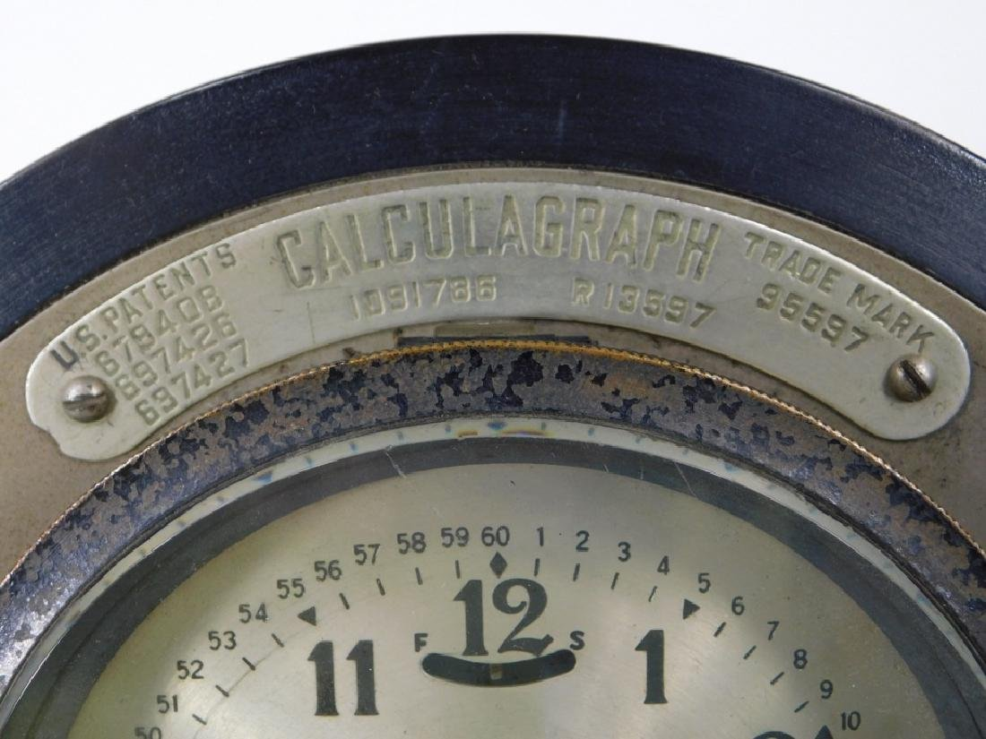 Early Metal Calculagraph Time Recording Machine - 3