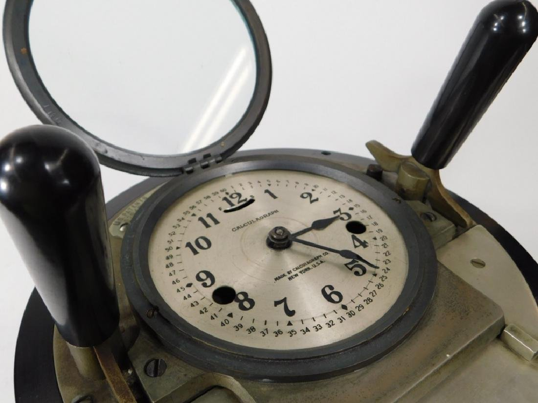 Early Metal Calculagraph Time Recording Machine - 8