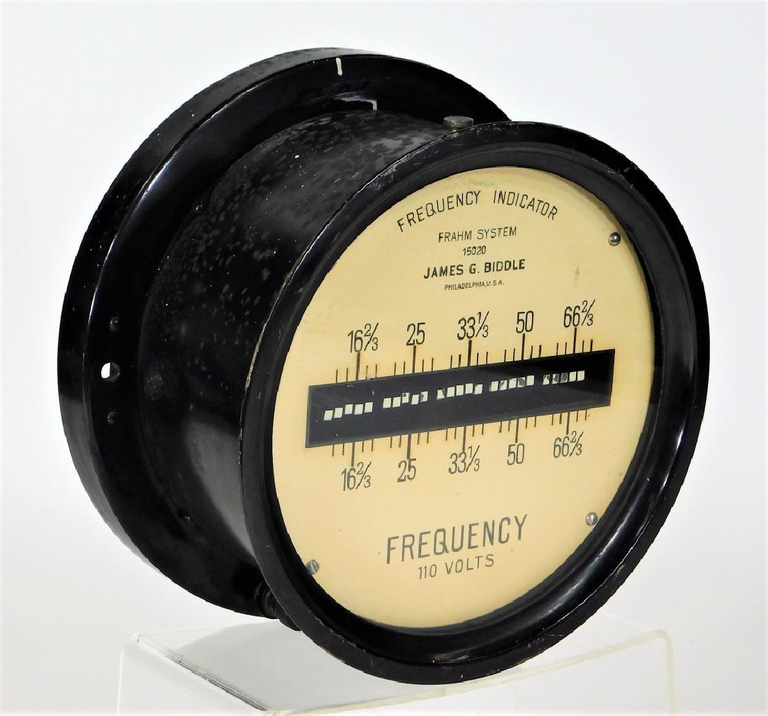 James Biddle Frahm System 110V Frequency Indicator