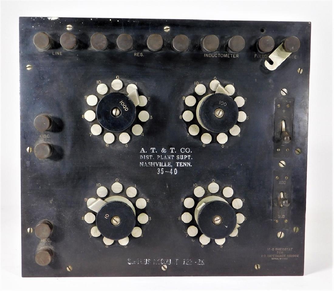 Western Electric 14-B Rheostat 1B Impedance Bridge - 2