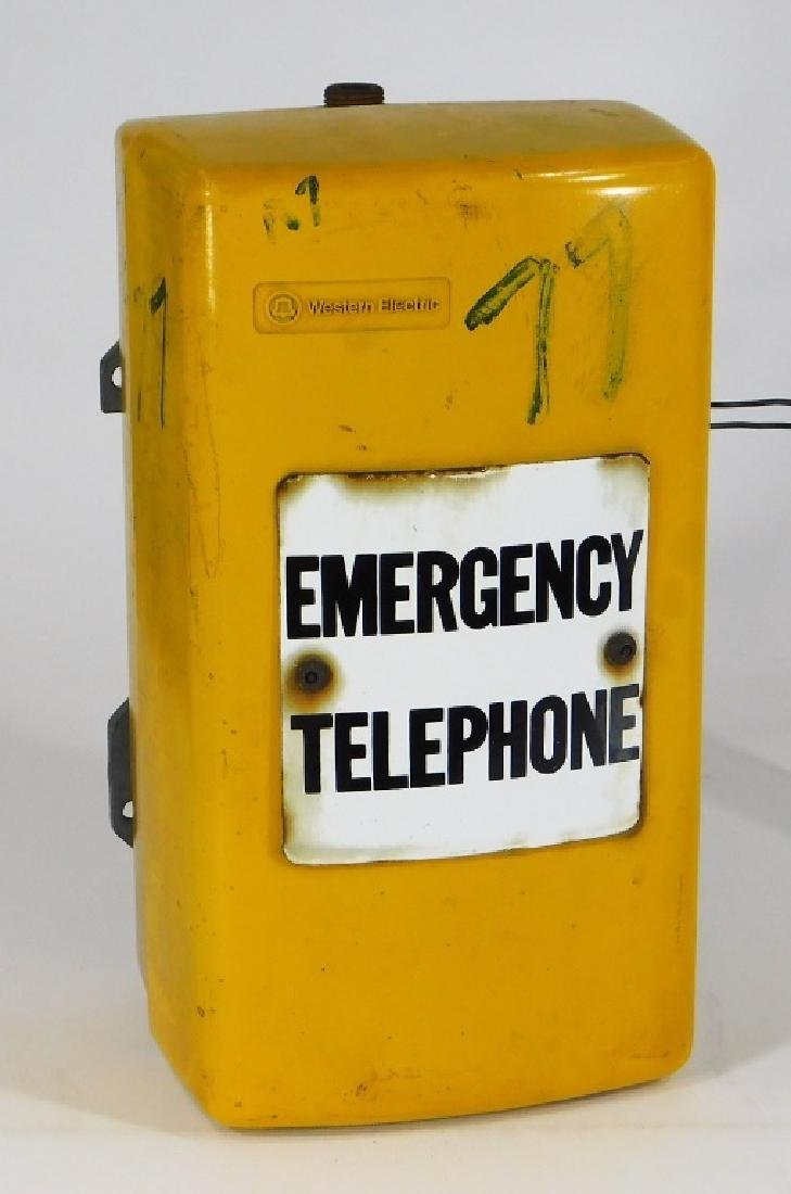 Western Electric NY Yellow Emergency Telephone Box