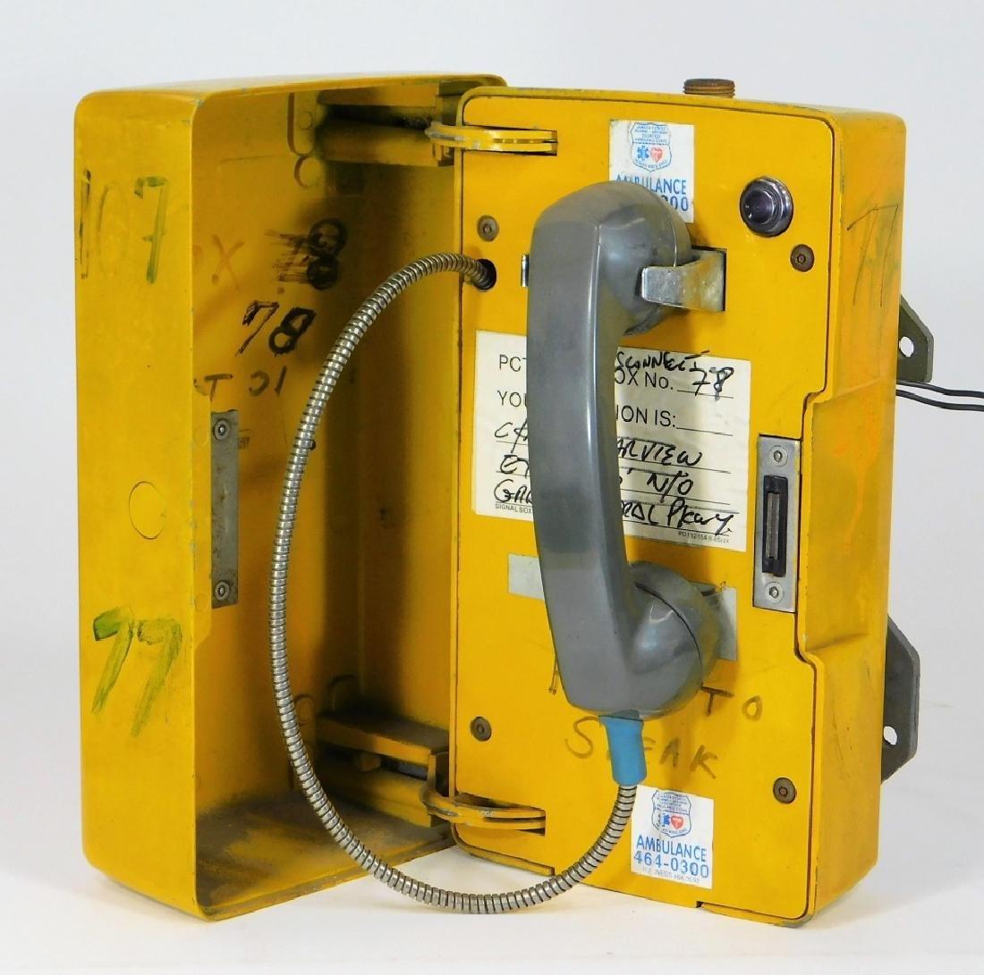 Western Electric NY Yellow Emergency Telephone Box - 2