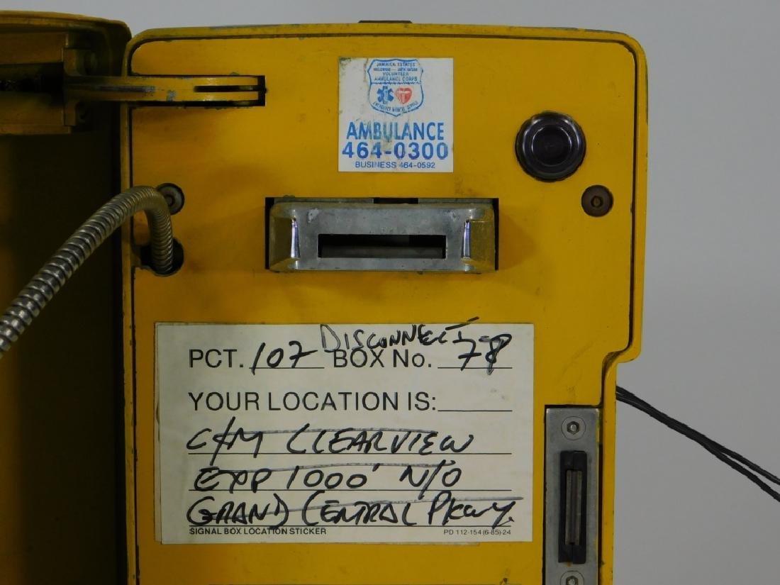 Western Electric NY Yellow Emergency Telephone Box - 3