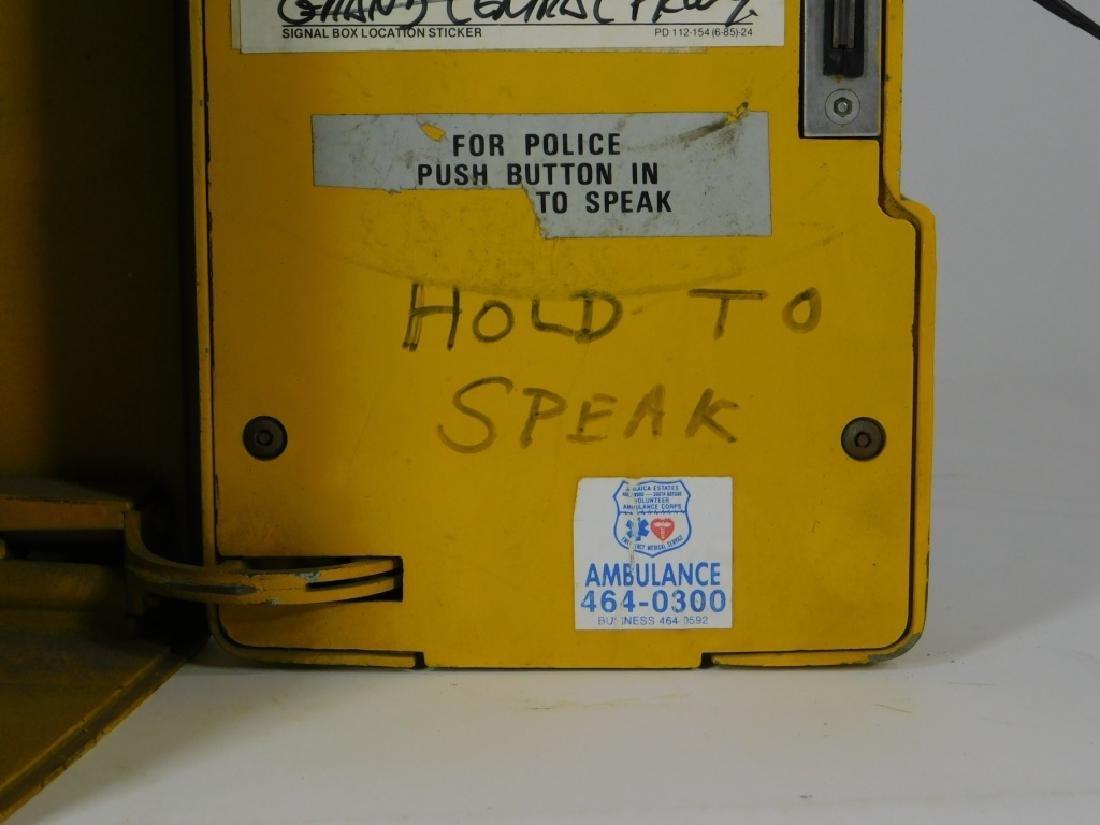 Western Electric NY Yellow Emergency Telephone Box - 4