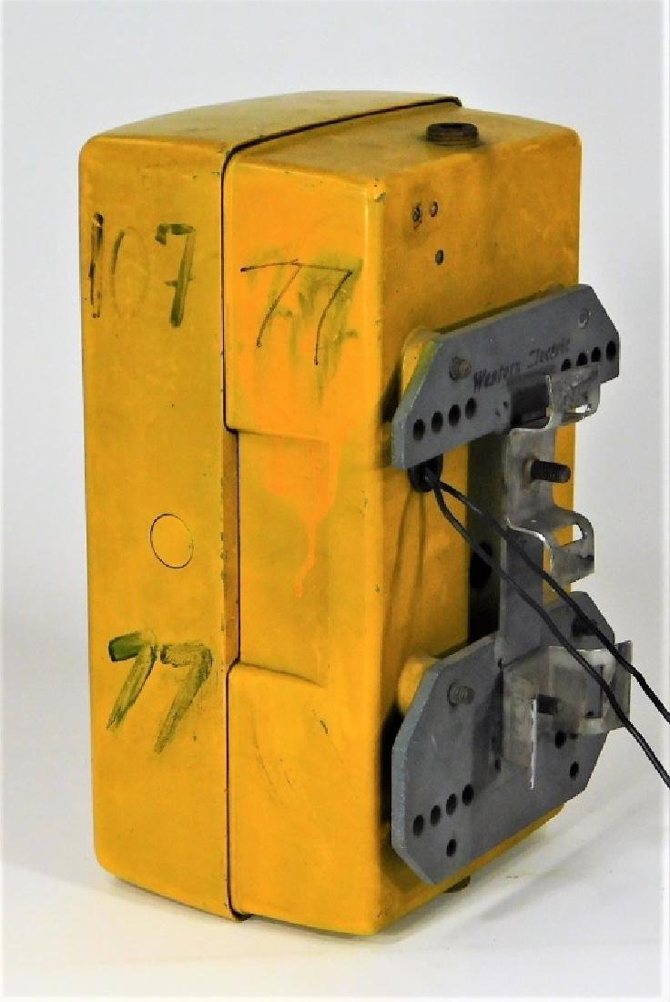 Western Electric NY Yellow Emergency Telephone Box - 7