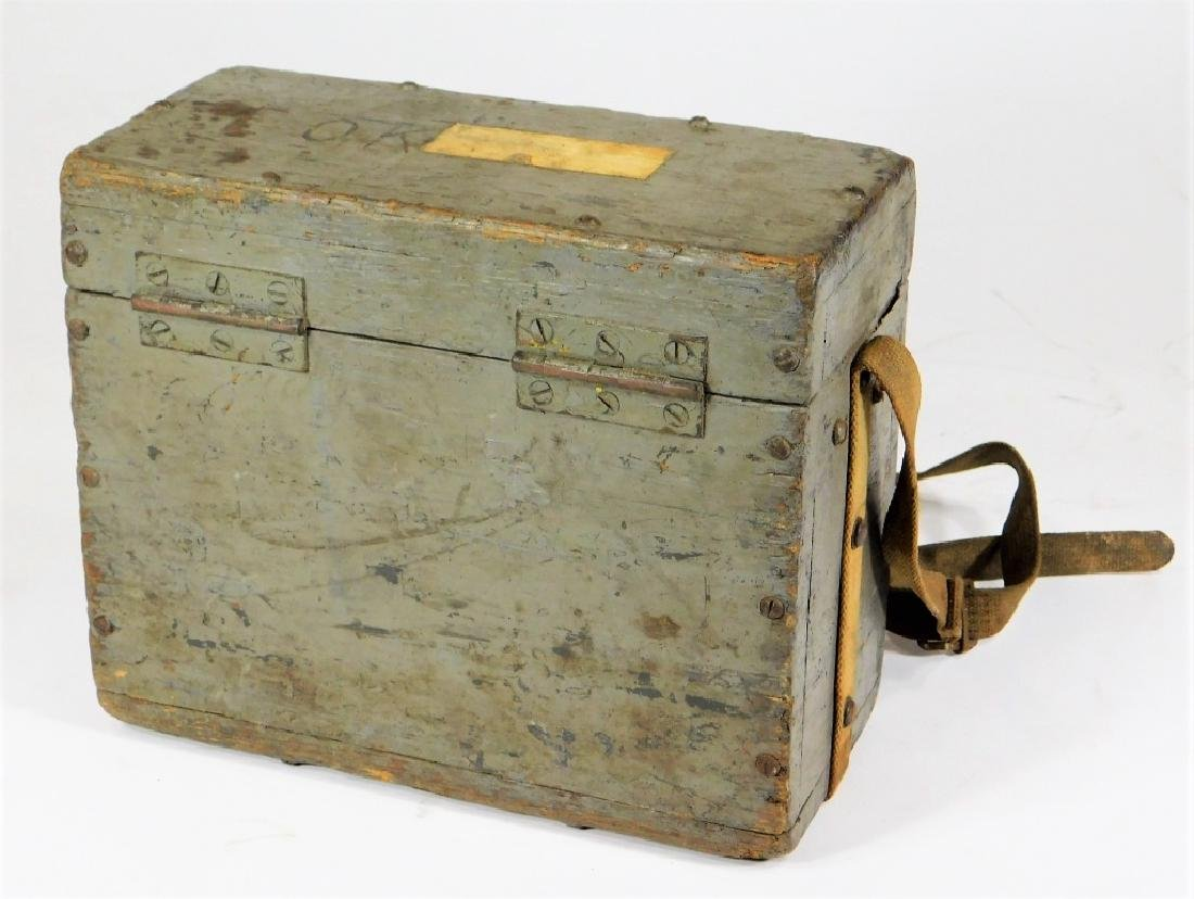 Antique Lineman Blue-Grey Painted Phone Tone Box - 3