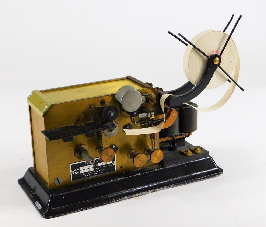 J. H. Bunnell Telegraph Pen Register Sounder Key