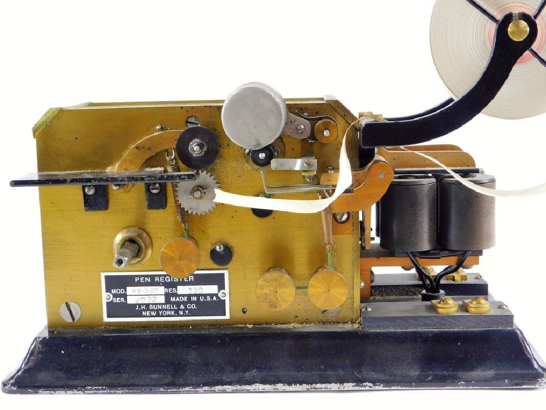 J. H. Bunnell Telegraph Pen Register Sounder Key - 2