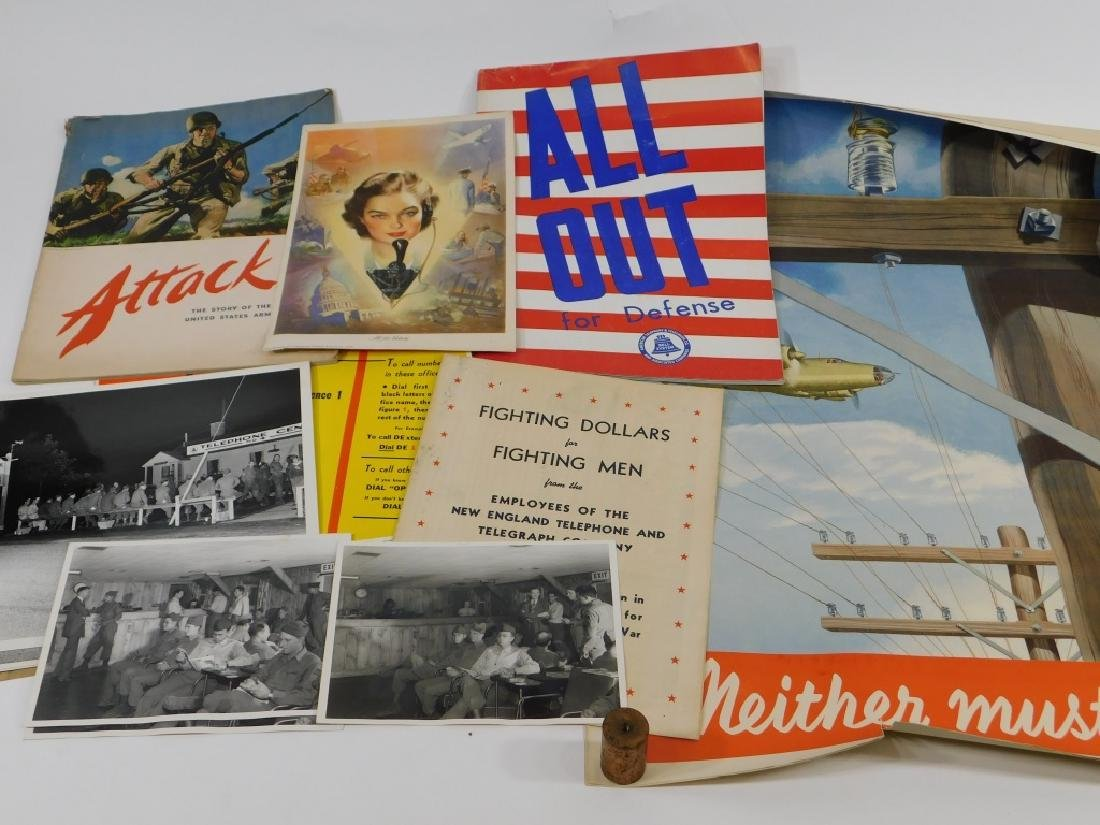 15PC World War II Telephone Poster Ephemera Group