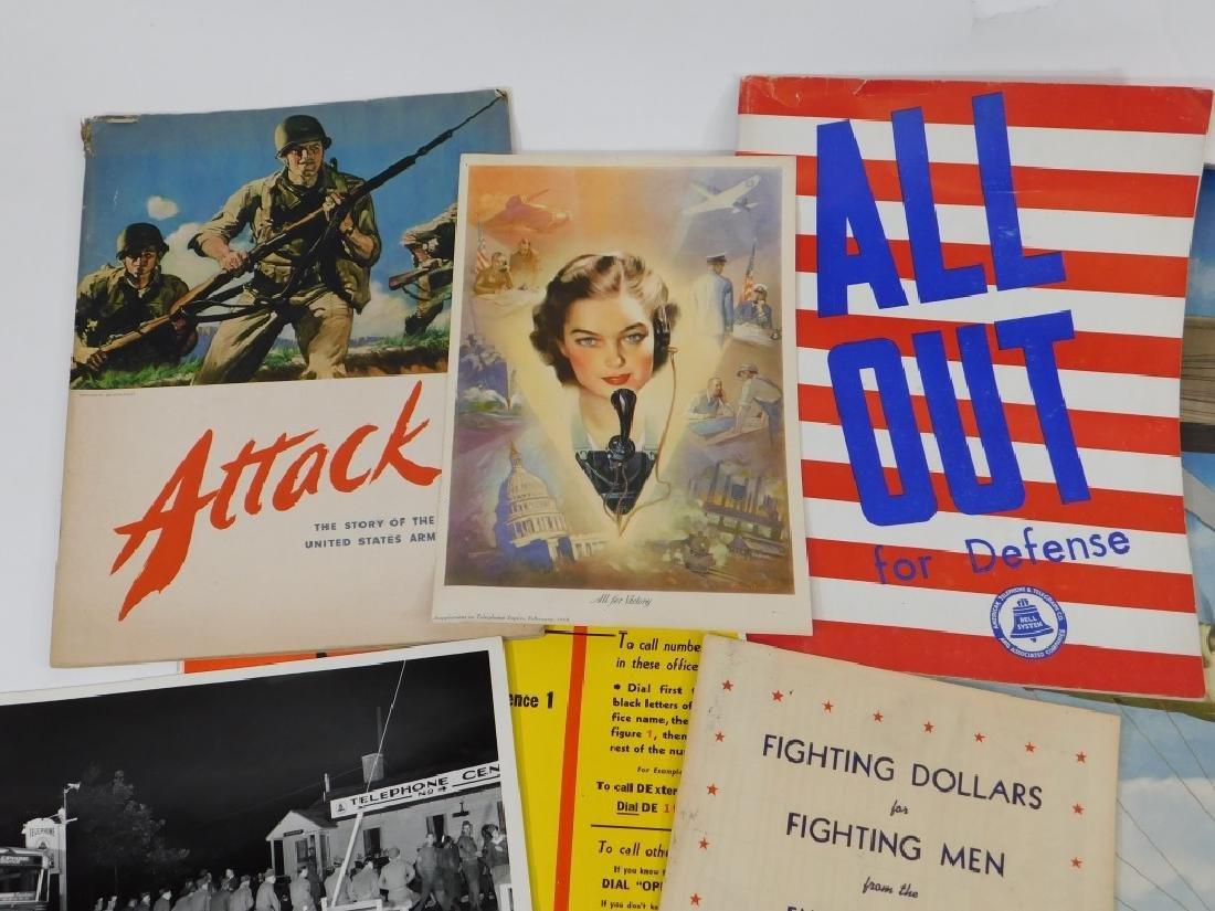 15PC World War II Telephone Poster Ephemera Group - 2