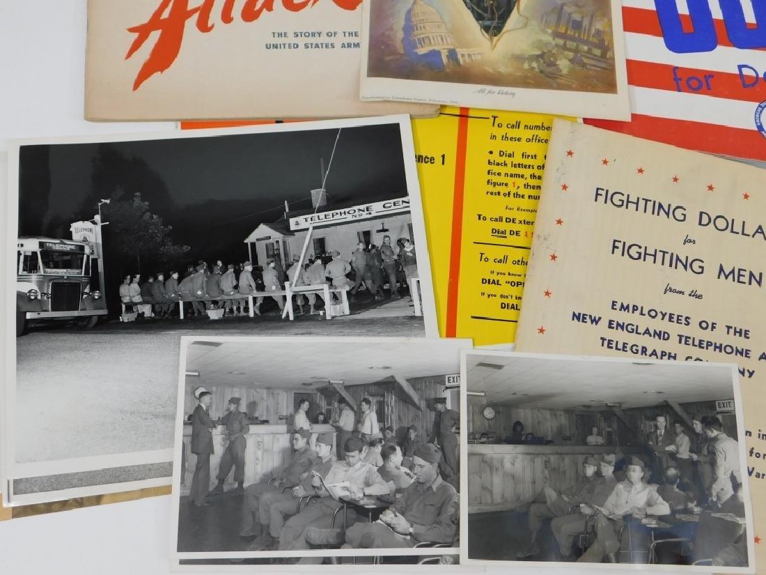 15PC World War II Telephone Poster Ephemera Group - 3