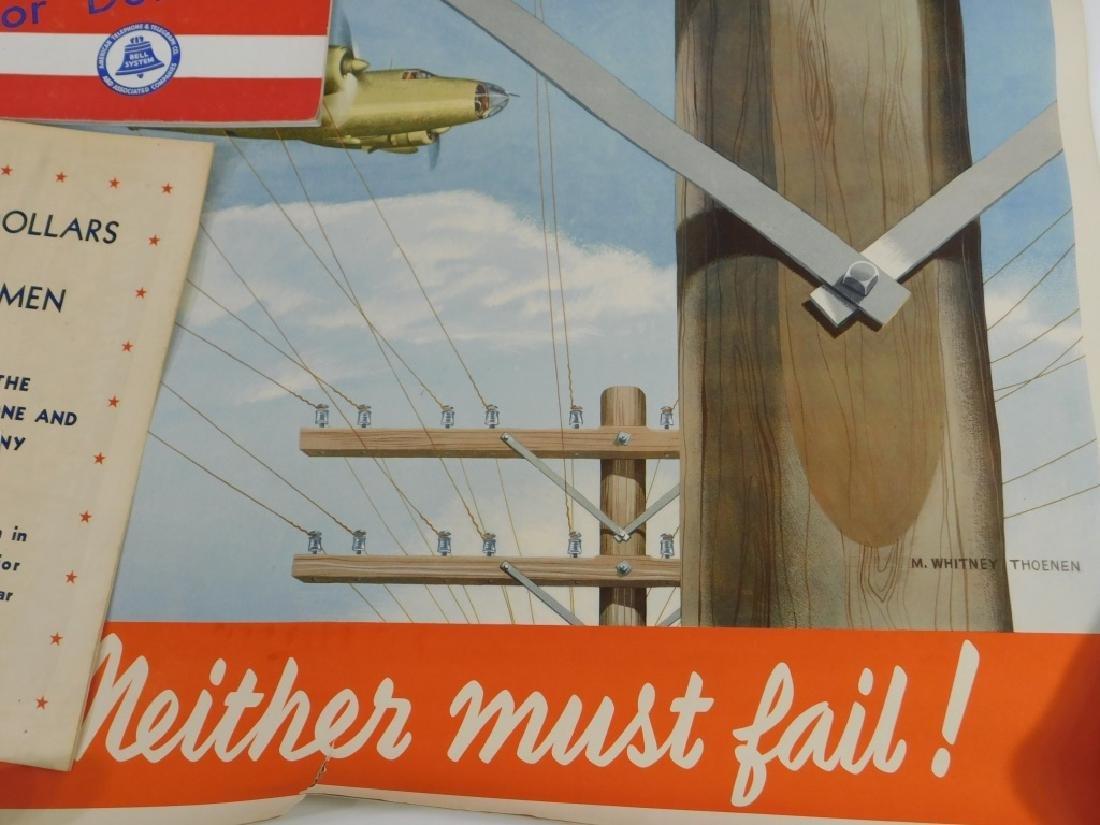 15PC World War II Telephone Poster Ephemera Group - 4