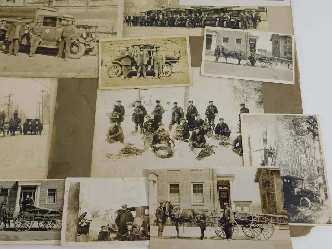35PC Early Linemen Telephone Truck Photography Lot - 4