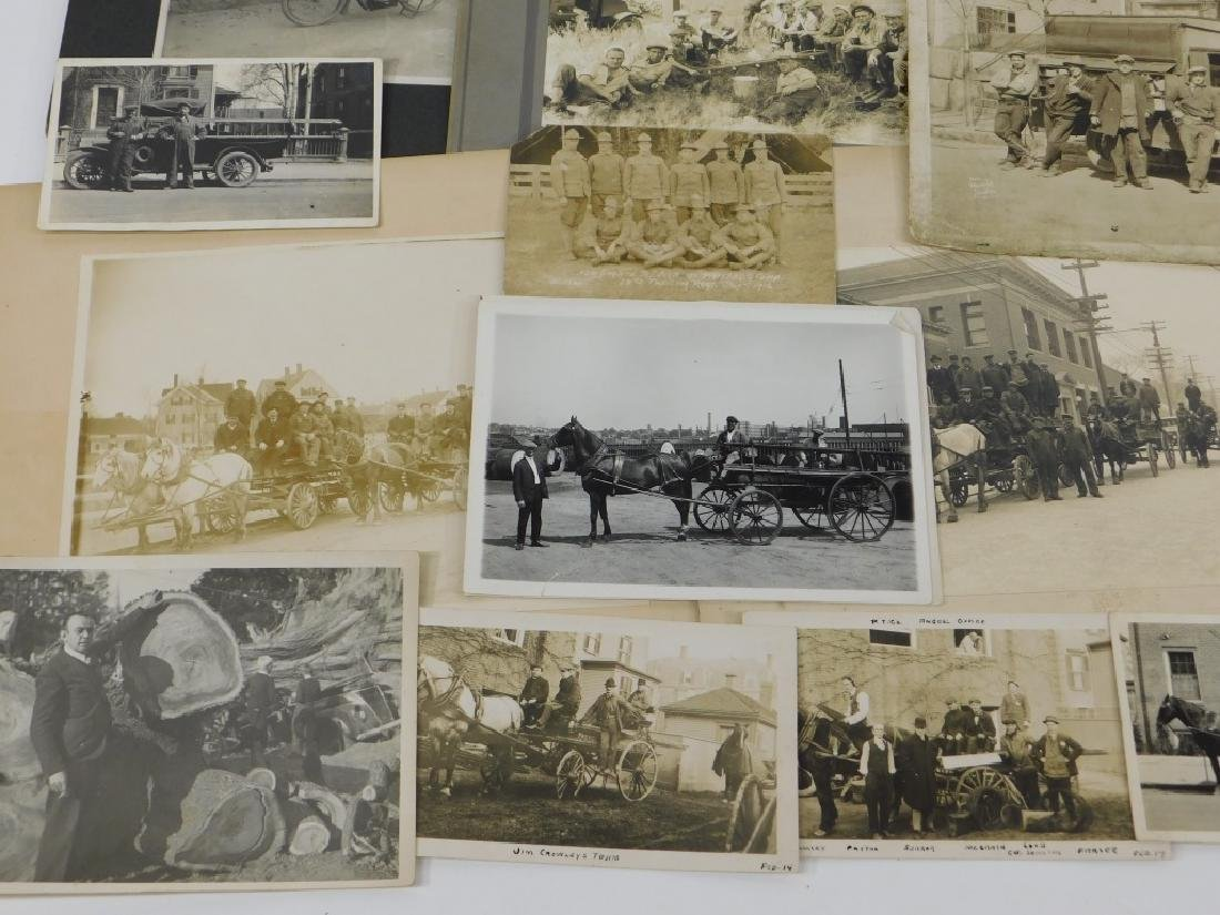 35PC Early Linemen Telephone Truck Photography Lot - 5