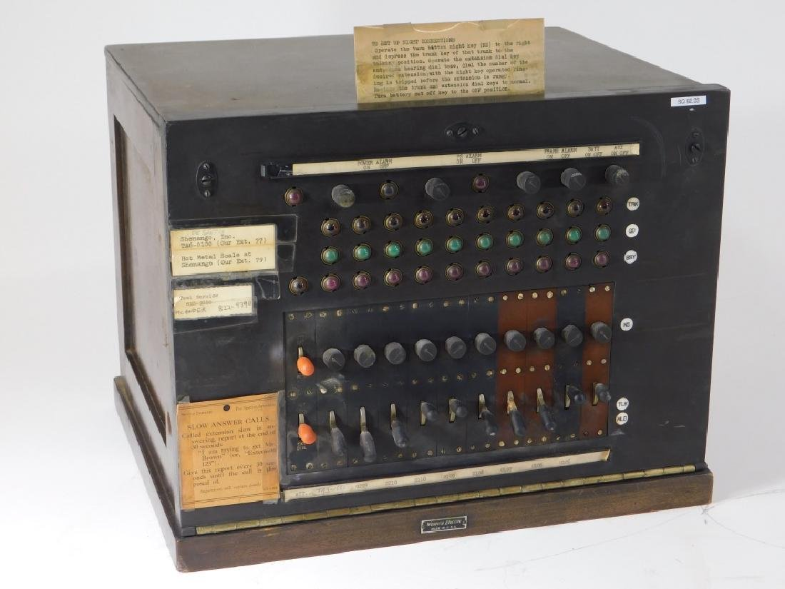 Vintage Western Electric Wood Case Switchboard