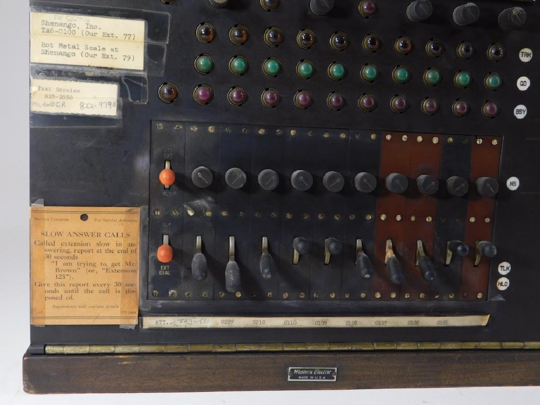 Vintage Western Electric Wood Case Switchboard - 3