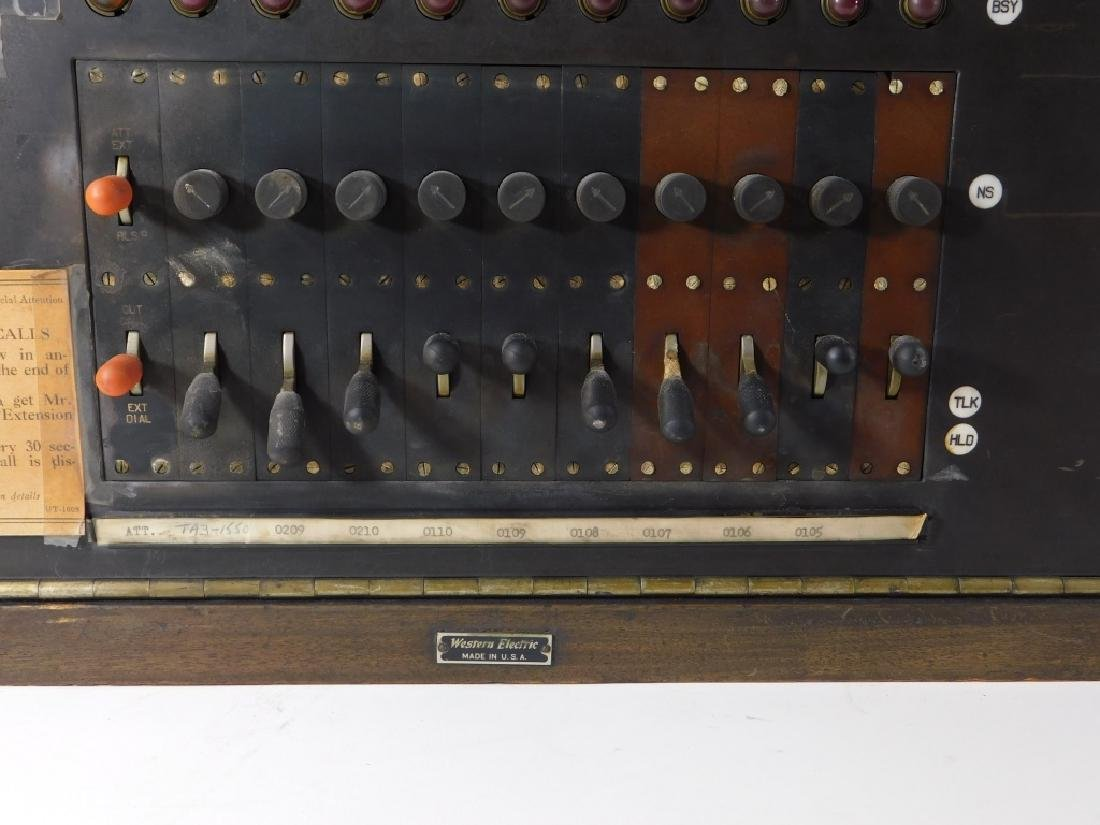 Vintage Western Electric Wood Case Switchboard - 4