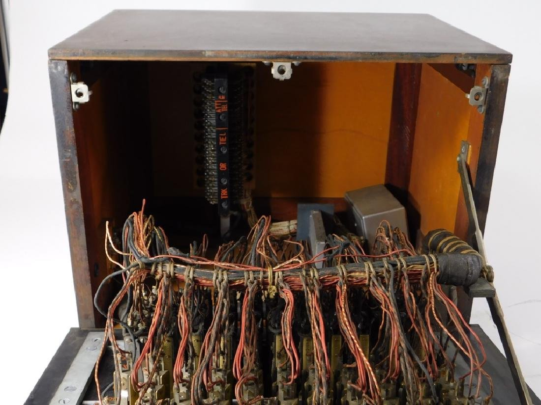 Vintage Western Electric Wood Case Switchboard - 5