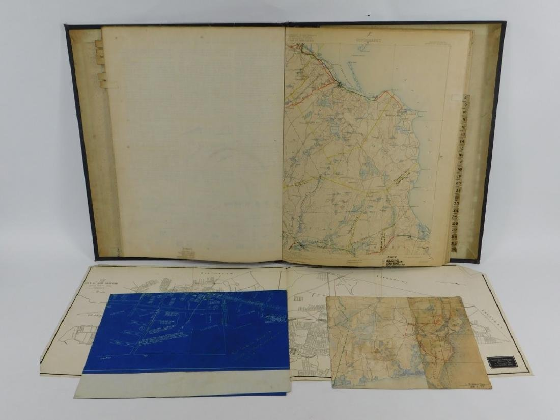 Bound Vol. Early USGS Maps Telephone Line Diagrams