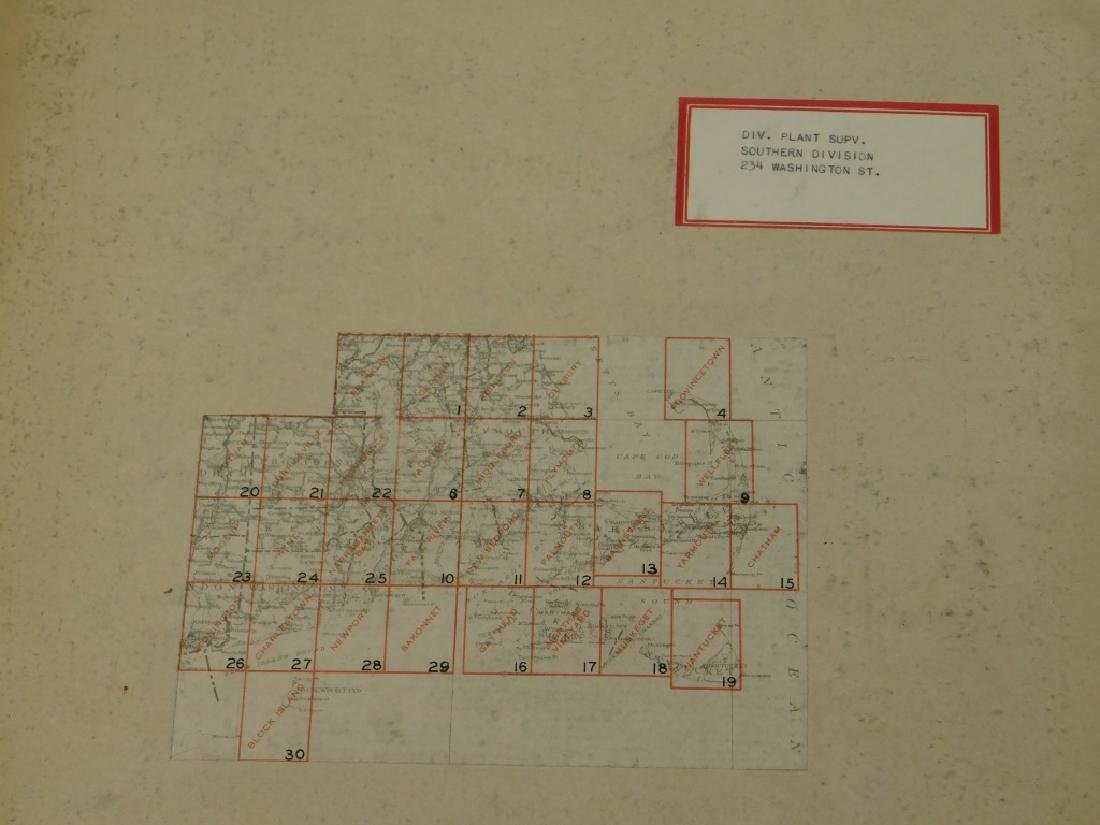 Bound Vol. Early USGS Maps Telephone Line Diagrams - 2