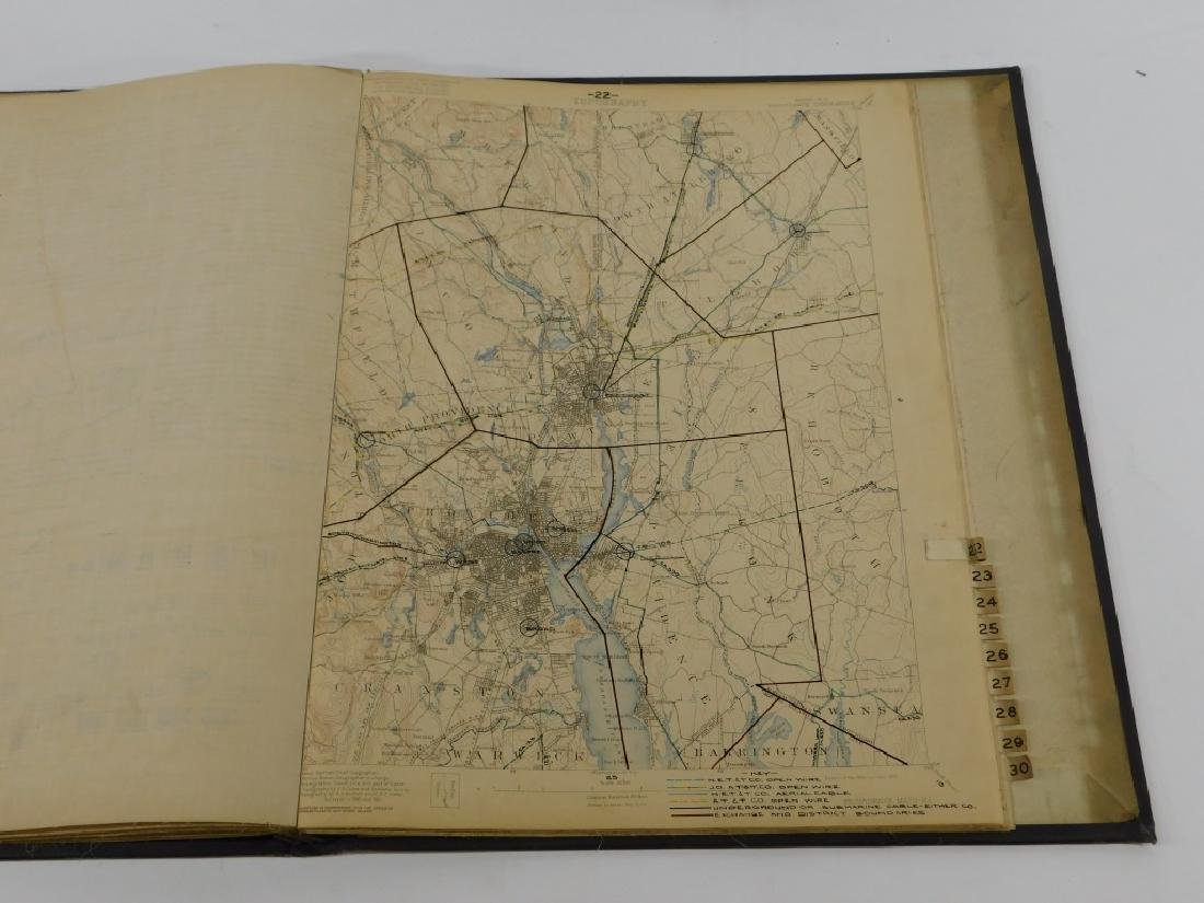 Bound Vol. Early USGS Maps Telephone Line Diagrams - 3