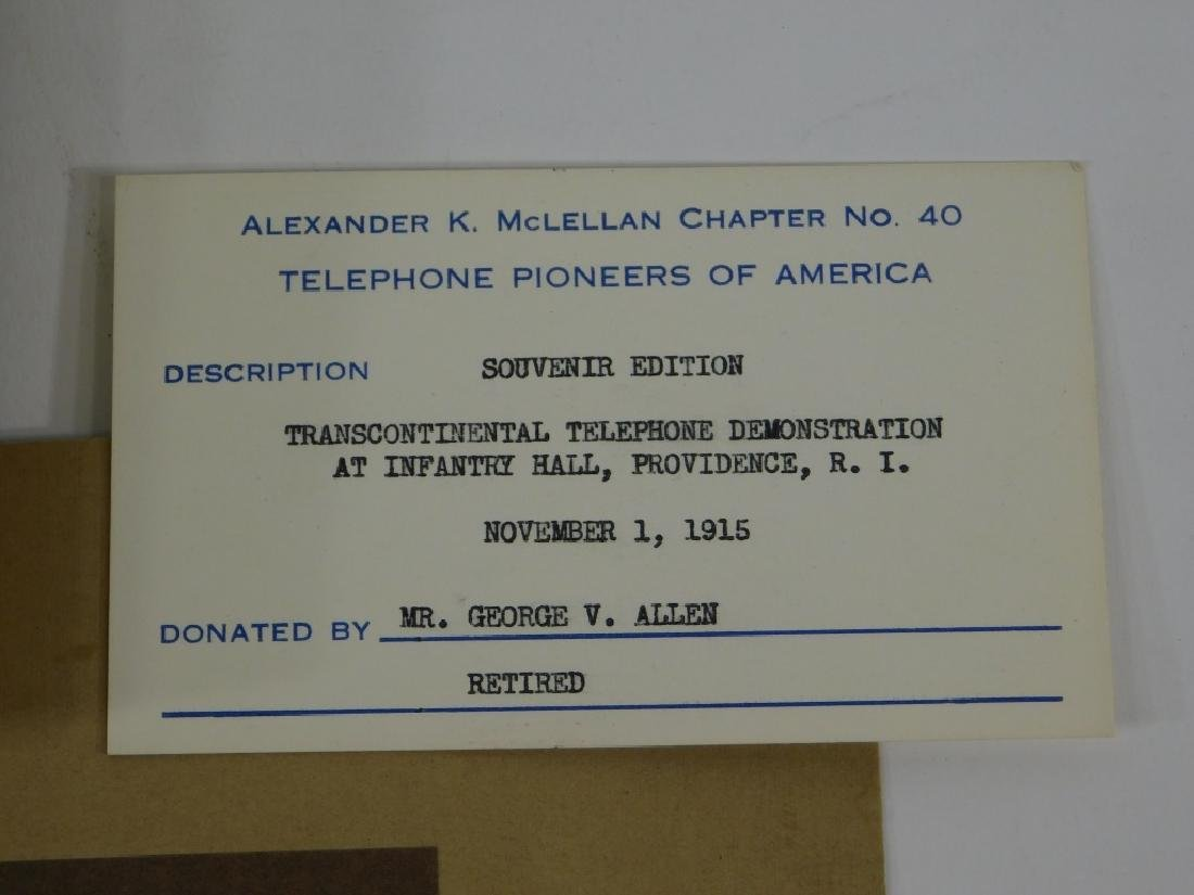 C.1915 Transcontinental Telephone Demo Photograph - 3