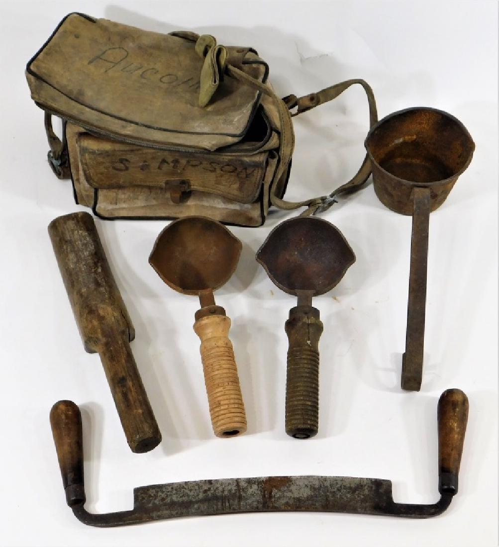 Early Iron & Wood Telephone Lineman Tool Group