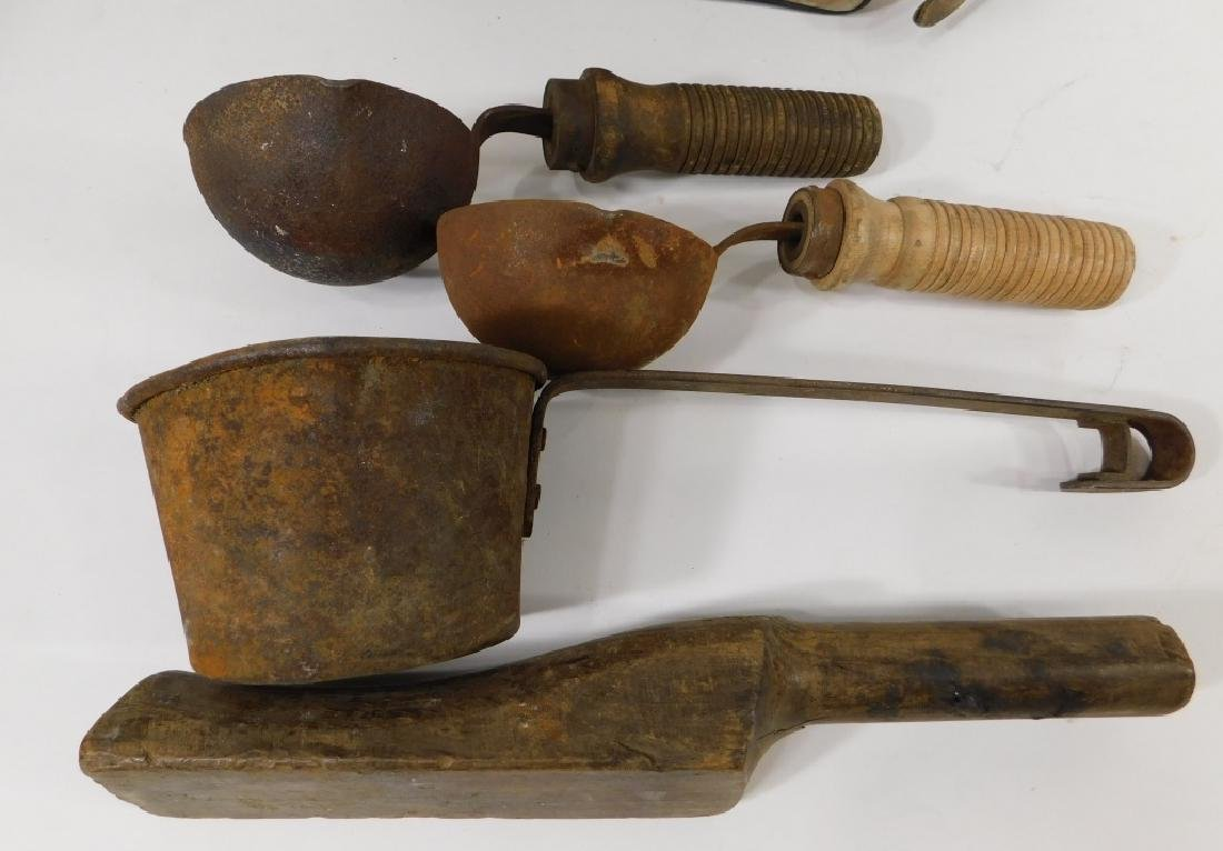Early Iron & Wood Telephone Lineman Tool Group - 2