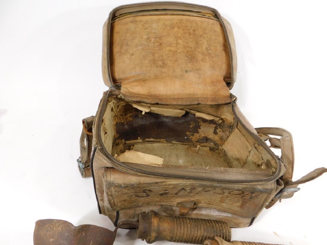 Early Iron & Wood Telephone Lineman Tool Group - 3