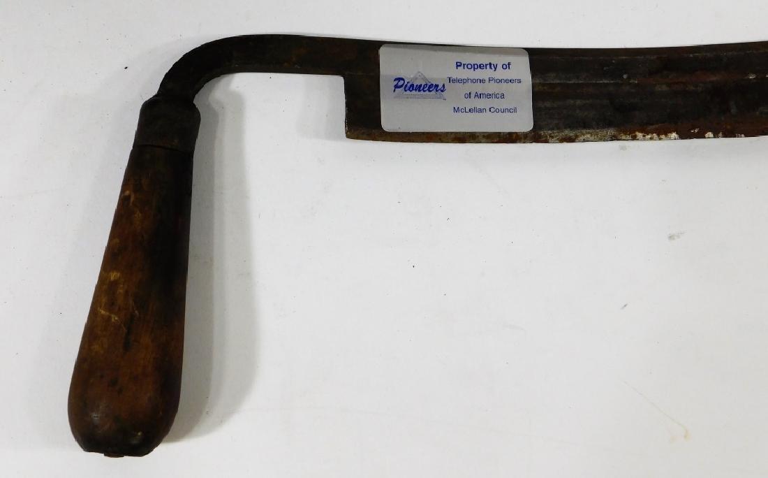 Early Iron & Wood Telephone Lineman Tool Group - 4