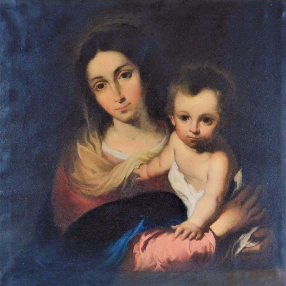 FINE European Old Master Madonna & Child Painting