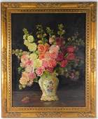 Marie Keller-Herman Floral Still Life O/C Painting