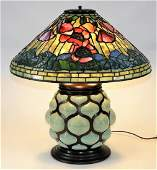 RARE Tiffany Studios Poppy Blown Glass Table Lamp