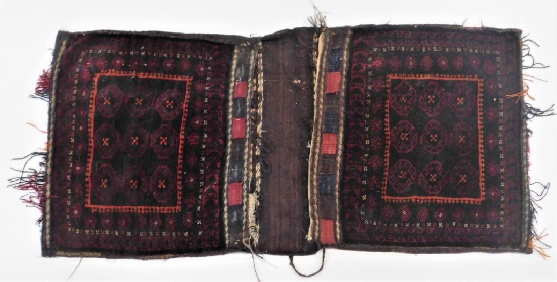 Antique Persian Saddle Bag Bag Face Carpet Rug