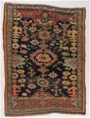 1900 Persian Bidjar Oriental Geometric Carpet Rug