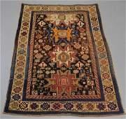 Antique Caucasian Shirvan Pictorial Carpet Rug