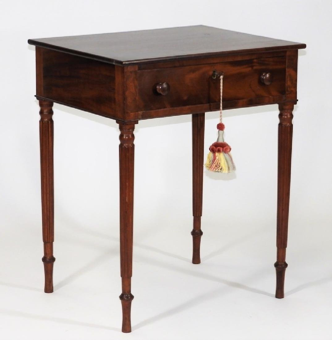 New England Flame Mahogany One Drawer Work Stand