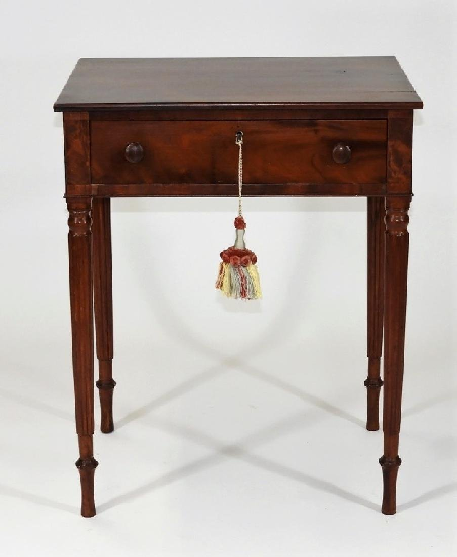 New England Flame Mahogany One Drawer Work Stand - 2