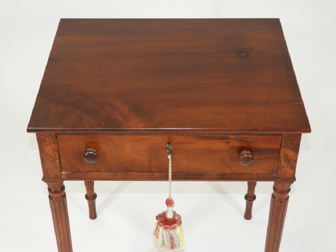 New England Flame Mahogany One Drawer Work Stand - 3