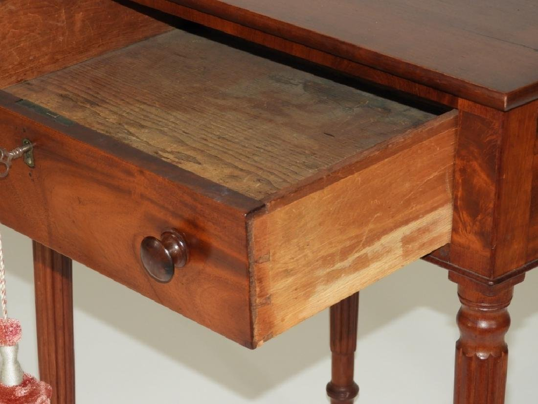 New England Flame Mahogany One Drawer Work Stand - 4