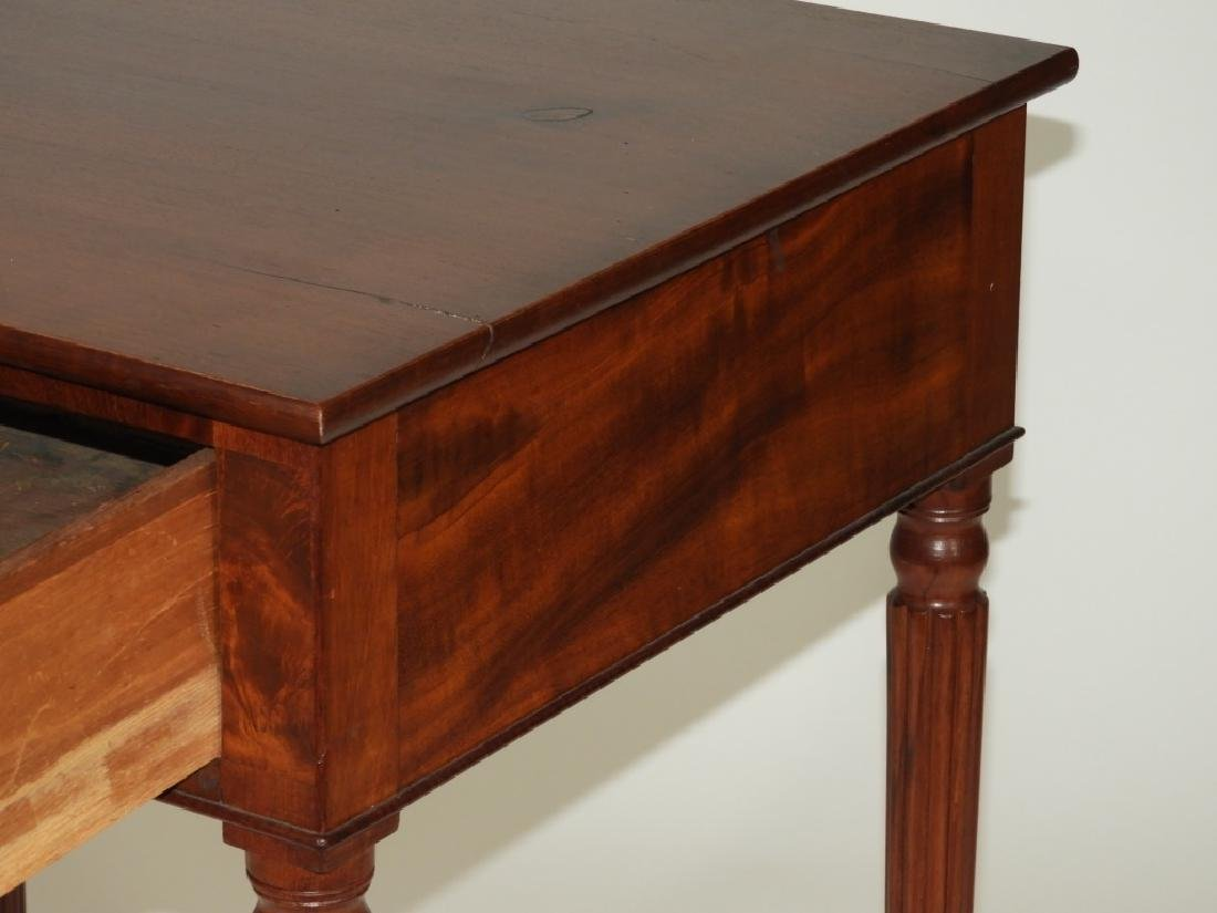 New England Flame Mahogany One Drawer Work Stand - 5