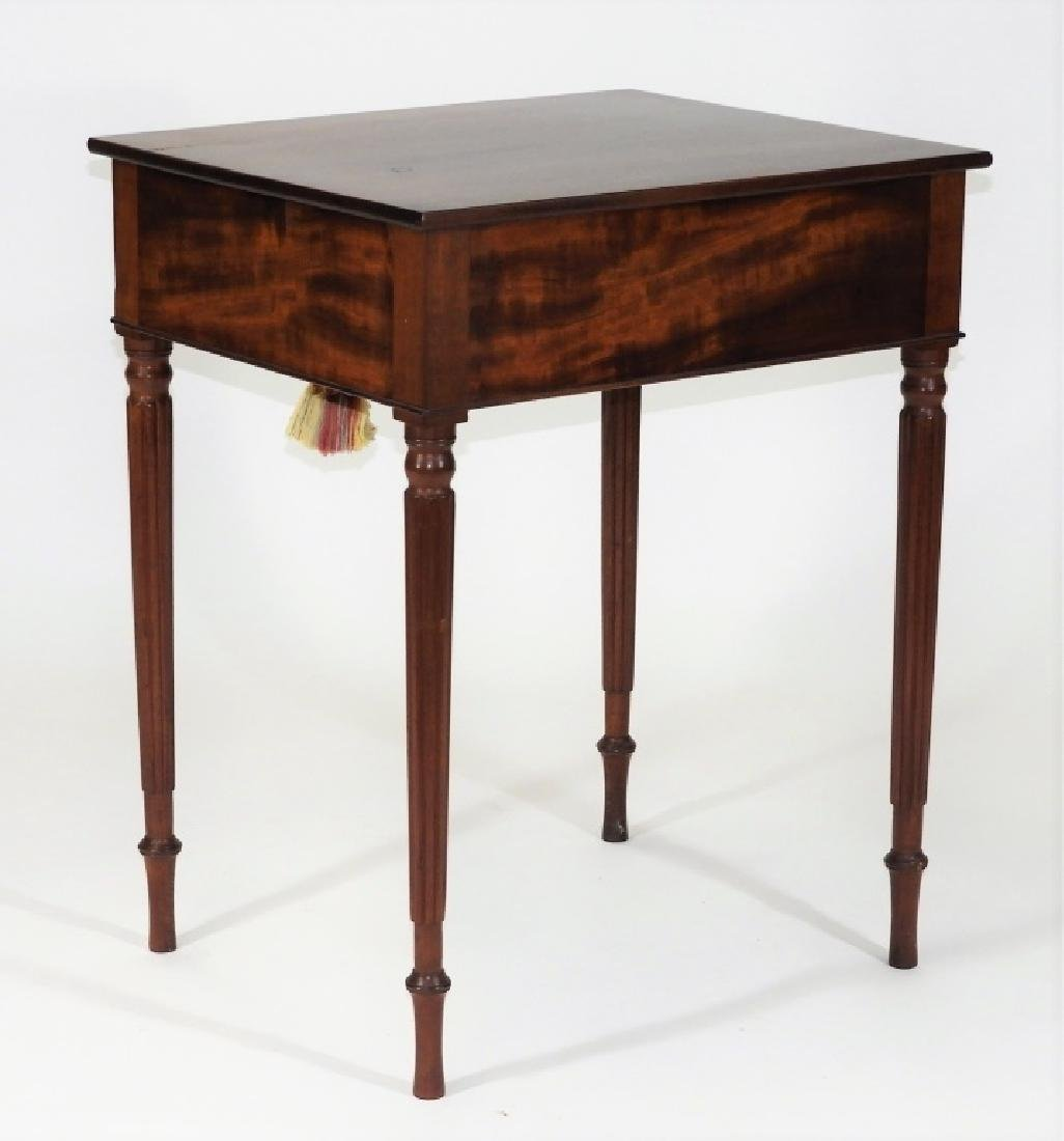 New England Flame Mahogany One Drawer Work Stand - 6