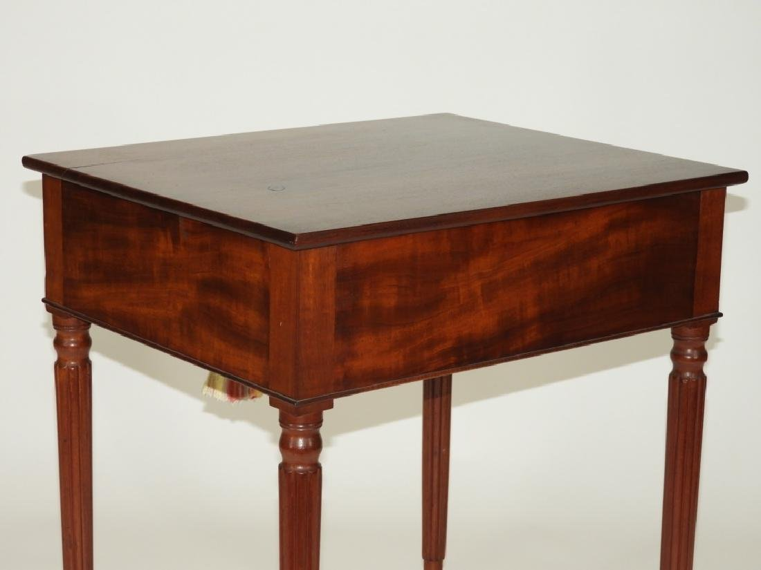 New England Flame Mahogany One Drawer Work Stand - 7