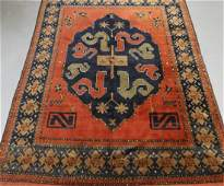 Persian Oriental Geometric Cloud Band Carpet Rug