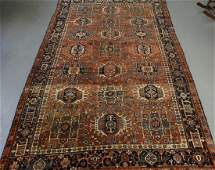 Antique Persian Oriental Karaja Pattern Carpet Rug