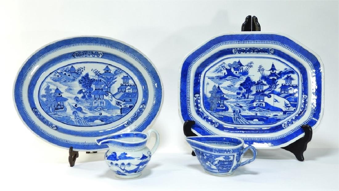 4PC 19C Chinese Export Canton Porcelain Articles