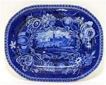 19C Staffordshire Transferware Flintshire Platter