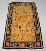 Chinese Art Deco Imperial Yellow Carpet Rug