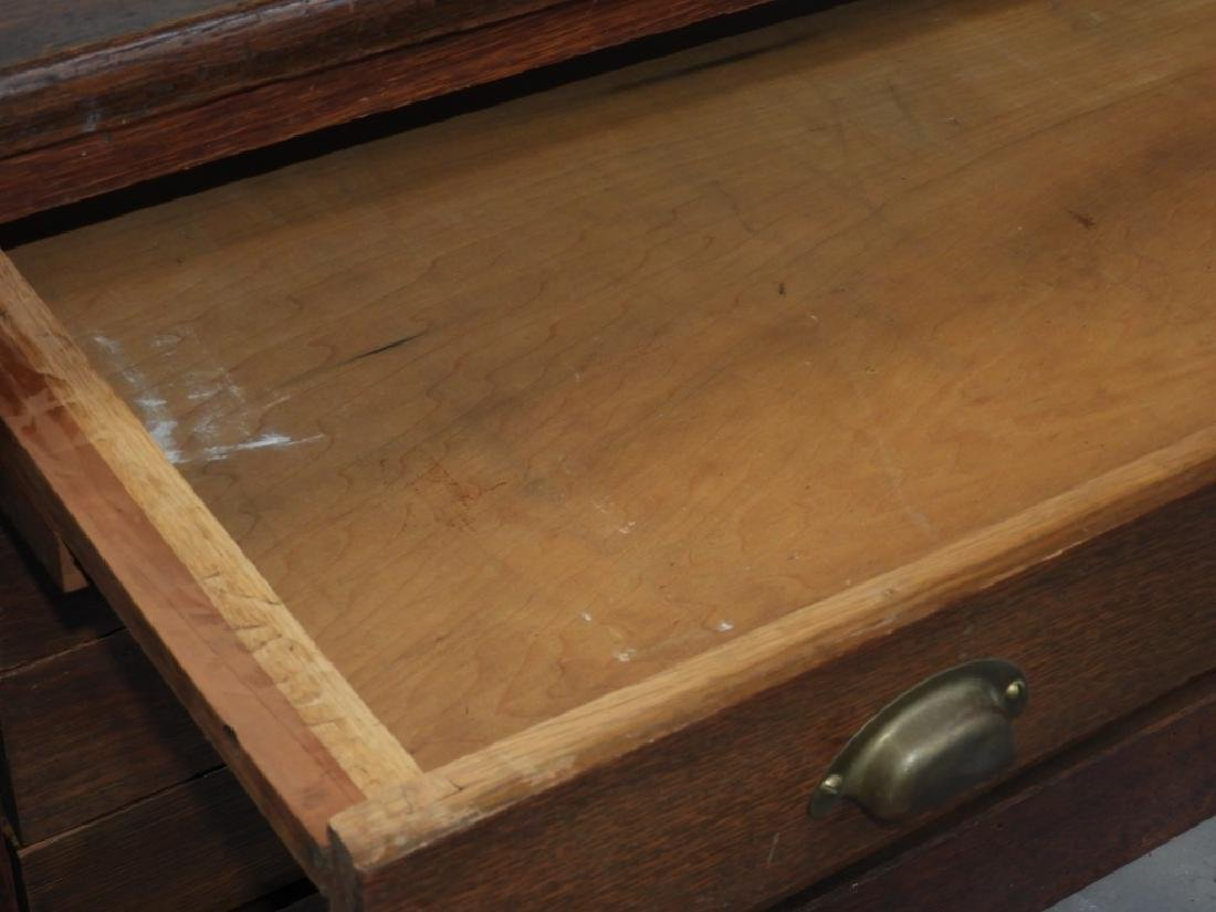 19C Oak Map Print Paper Collector's Case Cabinet - 4