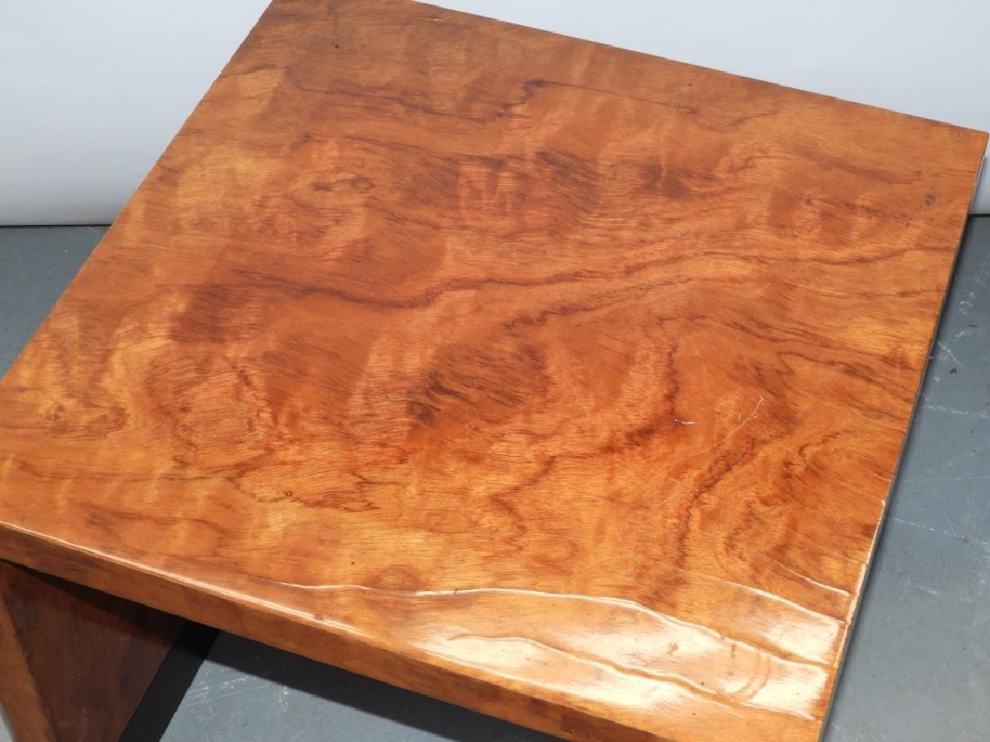 MCM Hollywood Regency Burl Wood Veneer End Table - 2